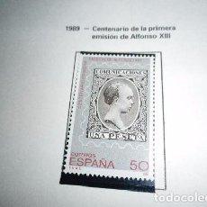 Sellos: ESPAÑA EDIFIL 3024*** - AÑO 1989 - CENTENARIO DE LA PRIMERA EMISION DE ALFONSO XIII. Lote 98719663
