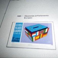Sellos: ESPAÑA 3015*** - AÑO 1989 - ELECCIONES AL PARLAMENTO EUROPEO. Lote 98719715