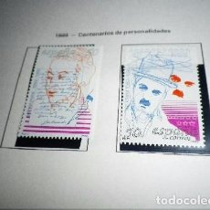 Sellos: ESPAÑA, 1989 - CENTENARIOS DE PERSONALIDADES - SELLOS NUEVOS - SERIE COMPLETA. Lote 98719779