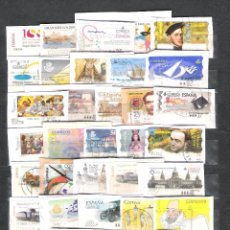 Sellos: ESPAÑA.LOTE DE 87 SELLOS ATMS DISTINTOS USADOS.MUY BUEN MATASELLADO.. Lote 98759543