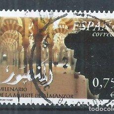 Sellos: R17/ ESPAÑA USADOS 2002, EDF. 3934, MILENARIO DE LA MUERTE DE ALMAZOR. Lote 98956031