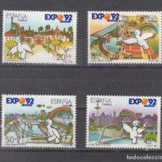 Sellos: ,,,ESPAÑA 3050/3 SIN CHARNELA, VARIEDAD IMPRESION COLORES DESPLAZADOS Y LINEAS DOBLES, EXPO 92. Lote 101091754
