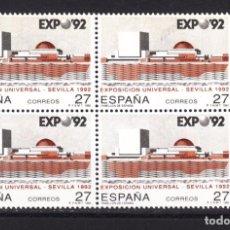 Sellos: ,,,ESPAÑA 3155 EN B4 SIN CHARNELA, VARIEDAD FONDO MULTIRAYADO EN EXPO 92. Lote 101091728