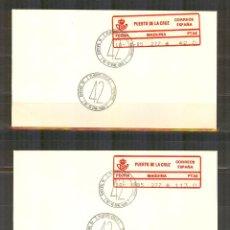 Sellos: ETIQUETA EPELSA ATM 2 SOBRES NEUTROS EXPOFIL IV MATASELLADOS FERIA. Lote 99720571