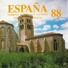 Sellos: ESPAÑA 1988 AÑO COMPLETO NUEVOS SIN CHARNELA PERFECTO ESTADO. . Lote 100539051
