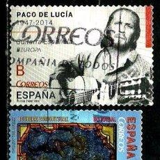 Sellos: ESPAÑA 2014- EDI 4884-4922 (SELLOS-PACO DE LUCIA-NAVIDAD) USADOS. Lote 103420298