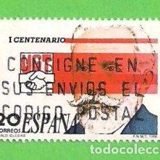Sellos: EDIFIL 2948. I CENTENARIO DE LA UNIÓN GENERAL DE TRABAJADORES - PABLO IGLESIAS. (1988).. Lote 101109931