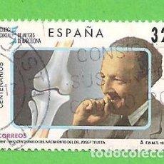 Sellos: EDIFIL 3481. CENTENARIOS. - NACIMIENTO DE JOSEP TRUETA I RASPALL. (1997).. Lote 101110079