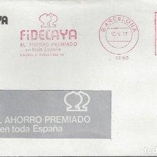 Sellos: CARTA FRANQUEO MECANICO FIDECAYA BARCELONA 1977. Lote 101119975