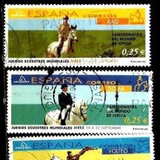 Sellos: ESPAÑA 2002- EDI 3899-00-02 (SELLOS-JUEGOS ECUESTRES) USADOS. Lote 101153378