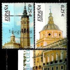 Sellos: ESPAÑA 2002- EDI 3936-37 (2 SELLOS+2 VIÑETAS UNIDAS (P.M.H.) USADOS. Lote 101155872