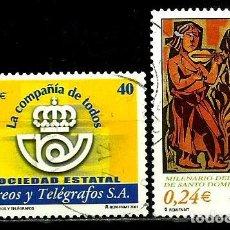 Sellos: ESPAÑA 2001- EDI 3815-17 (SELLOS-CORREOS-MILENARIO) USADOS. Lote 101163187