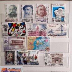 Sellos: ESPAÑA 1981, 16 SELLOS USADOS DIFERENTES . Lote 101197775