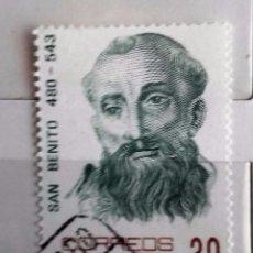 Sellos: ESPAÑA 1981, SELLO USADO CENTENARIO DE SAN BENITO . Lote 101197943