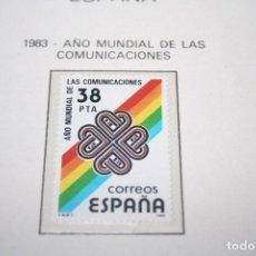 Sellos: AÑO MUNDIAL DE LAS COMUNICACIONES *** SELLO AÑO 1983 *** ESPAÑA *** NUEVO . Lote 101210171