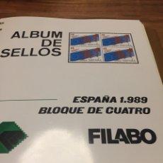 Sellos: ÁLBUM SELLOS ESPAÑA BLOQUE DE 4 1989 A 1991. Lote 101238820