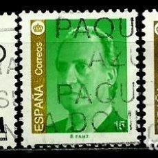 Sellos: ESPAÑA 1998- EDI 3525-26-27 (SELLOS-XACOBEO'99-J. CARLOS I) USADOS. Lote 101317702