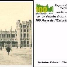 Sellos: ESPAÑA, TARJETA COMMEMORATIVA PREPAGADA, 100º ESTACION DEL NORTE DE VALENCIA. Lote 101537963