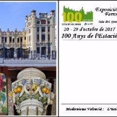 Sellos: ESPAÑA, TARJETA COMMEMORATIVA PREPAGADA, 100º ESTACION DEL NORTE DE VALENCIA. Lote 101537975