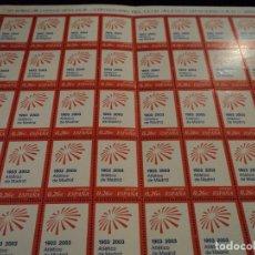 Sellos: PLIEGO DE 50 SELLOS ESPAÑA 2003 SELLO CONMEMORATIVO DEL CENTENARIO DEL ATLETICO DE MADRID. Lote 102520231