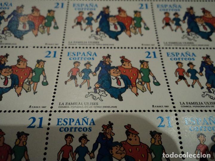 Sellos: PLIEGO DE 50 SELLOS. 3486 PERSONAJES DE TEBEO: LA FAMILIA ULISES DE MARINO BENEJAM, 1997 - Foto 2 - 103161283