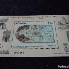 Sellos: HOJITA V CENTENARIO DE LA CARTA DE JUAN DE LA COSA 2000. Lote 103178787
