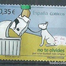 Sellos: R25/ ESPAÑA EDIFIL 4639, USADOS, 2011, VALORES CIVICOS. Lote 103179323