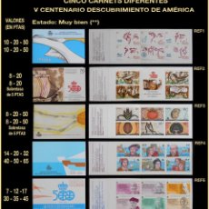 Sellos: CARNET - CARNETS - V CENTENARIO DESCUBRIMIENTO DE AMÉRICA. Lote 103296567