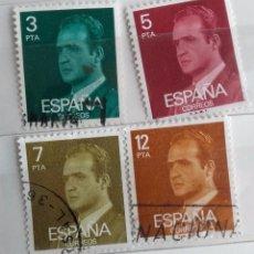 Sellos: ESPAÑA 1976, 4 SELLOS USADOS, REY JUAN CARLOS I SERIE INCOMPLETA . Lote 103520951