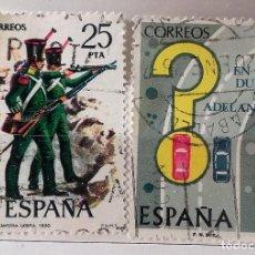 Sellos: ESPAÑA 1976, 2 SELLOS USADOS DIFERENTES . Lote 103521203