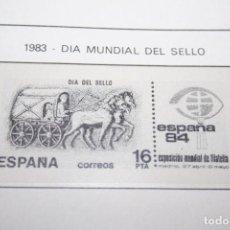 Sellos: DIA MUNDIAL DEL SELLO *** SELLO AÑO 1983 *** ESPAÑA *** NUEVO . Lote 103689011