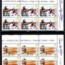 Sellos: LITERATURA ESPAÑOLA'94 SERIE 12V FIRMADA POR CAMILO JOSÉ CELA + SOBRE CERTIFICADO CON FRANQUICIA. Lote 103708323
