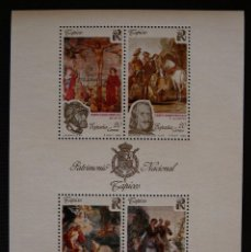 Sellos: ESPAÑA 1990 - HOJA BLOQUE EDIFIL 3090 - PATRIMONIO NACIONAL TAPICES - 4 VALORES - NUEVA. Lote 103752747