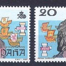 Sellos: EDIFIL 2920 V CENTENARIO DEL DESCUBRIMIENTO DE AMÉRICA 1987 (VARIEDAD...FALTA COLOR ROJO). MNH **. Lote 103980631