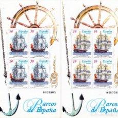 Sellos: ESPAÑA , 1995 / 1996. BARCOS DE EPOCA . 4 HB, 2 SERIES. **,MNH ( 2 FOTOS ). Lote 104686359
