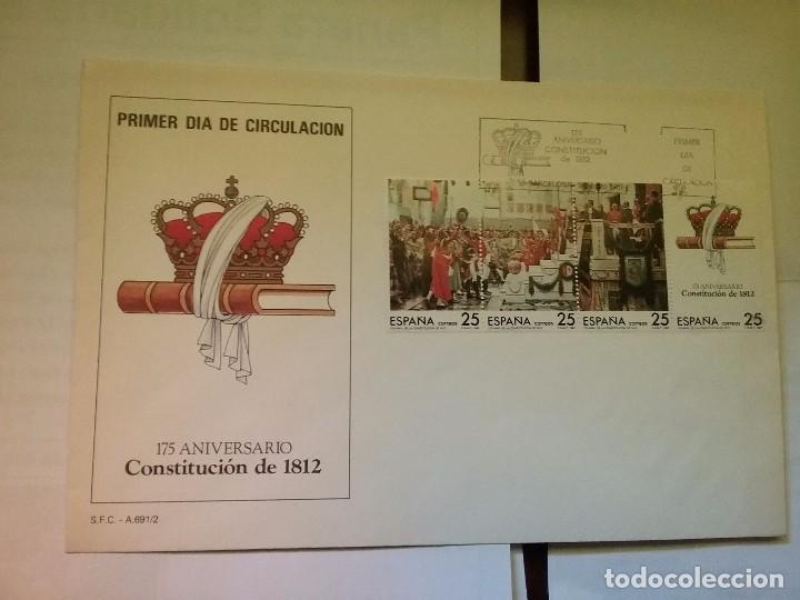CARTA/SOBRE PRIMER DIA DE CIRCULACION 175 ANIVERSARIO CONSTITUCIÓN 1812 MATASELLADO (Sellos - España - Juan Carlos I - Desde 2.000 - Cartas)