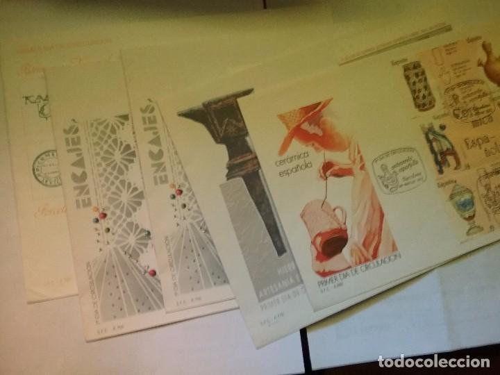 LOTE 5 CARTA/SOBRE PRIMER DIA DE CIRCULACION ARTESANIA MATASELLADOS (Sellos - España - Juan Carlos I - Desde 2.000 - Cartas)
