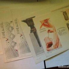 Sellos: LOTE 5 CARTA/SOBRE PRIMER DIA DE CIRCULACION ARTESANIA MATASELLADOS. Lote 105076751