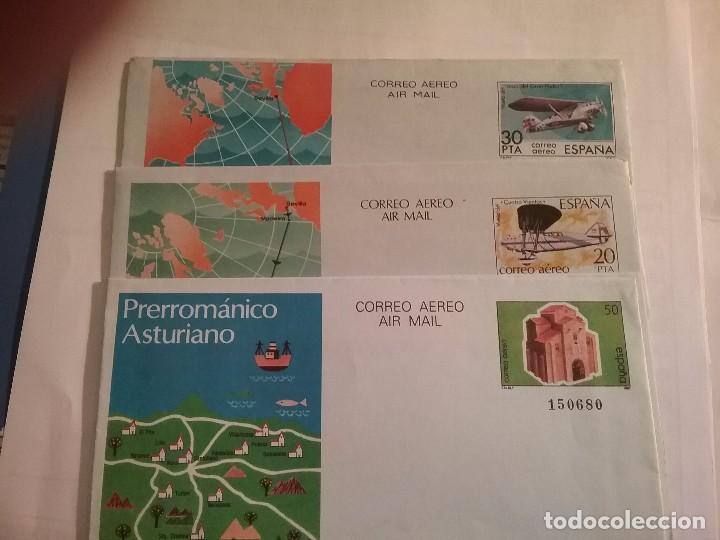 LOTE 3 SOBRES CORREO AÉREO, ASTURIAS, CUATRO VIENTOS, Y JESÚS DEL GRAN PODER (Sellos - España - Juan Carlos I - Desde 1.986 a 1.999 - Cartas)
