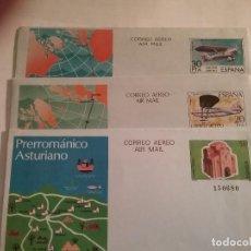 Sellos: LOTE 3 SOBRES CORREO AÉREO, ASTURIAS, CUATRO VIENTOS, Y JESÚS DEL GRAN PODER. Lote 105081327