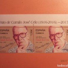 Sellos: ESPAÑA 2017 - EFEMERIDES - NACIMIENTO DE CAMILO JOSÉ CELA (1916-2016).- NUEVO.. Lote 105206719