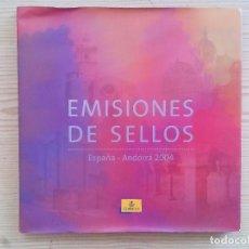 Sellos: EMISIONES DE SELLOS - ESPAÑA-ANDORRA 2004 (SIN SELLOS NI FILOESTUCHES). Lote 105341507
