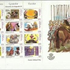 Sellos: 2 HB 2001 Y 2002, HISTORIA ESPAÑA II Y III. FACIAL DE 3 EUROS 30% DESCUENTO. Lote 105618323