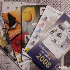 Sellos: 47 FOLLETOS DE EMISIONES DE SELLOS AÑO 2008 COMPLETO (LEER DESCRIPCIÓN). Lote 105706347