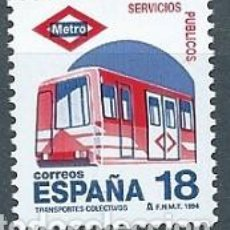 Sellos: ESPAÑA,1994,SERVICIOS PÚBLICOS,METRO,NUEVO,EDIFIL 3322,MNH**. Lote 143182600
