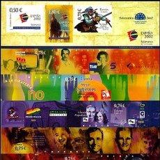 Sellos: ESPAÑA 2002. EXPOSICION MUNDIAL DE FILATELIA JUVENIL. EDIFIL Nº 3943. TRASERA NOCHE EN SALAMANCA. Lote 106018359