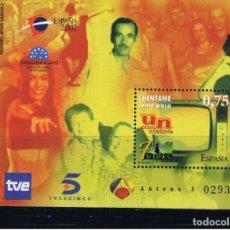 Sellos: ESPAÑA 2002. EXPOSICION MUNDIAL DE FILATELIA JUVENIL. TELEVISION. EDIFIL Nº 3945.. Lote 106018667