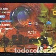 Sellos: ESPAÑA 2002. EXPOSICION MUNDIAL DE FILATELIA JUVENIL. CORRESPONSALES DE PRENSA. EDIFIL Nº 3946.. Lote 106018739