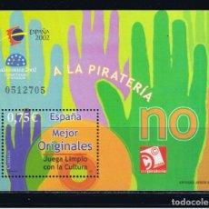 Sellos: ESPAÑA 2002. EXPOSICION MUNDIAL DE FILATELIA JUVENIL. MUSICA. EDIFIL Nº 3949.. Lote 106018891