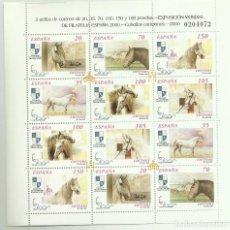 Sellos: HB SELLOS 2000. CABALLOS CARTUJANOS, EXPOSICIÓN MUNDIAL DE FILATELIA ESPAÑA 2000. Lote 106598095